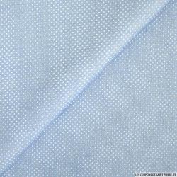 Coton imprimé pois 1mm ciel