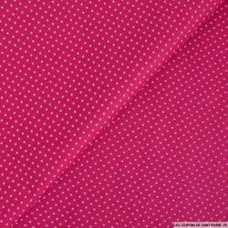 Coton imprimé pois 2mm magenta