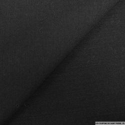 Sergé de laine contrecollée noir