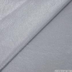 Jacquard de polyviscose irisé fantaisie gris