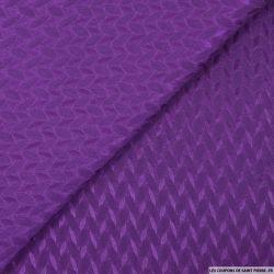 Jacquard polycoton pétales violet
