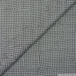 Jacquard polycoton pied de poule gris