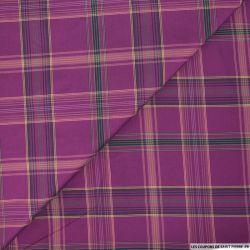 Taffetas polyester carreaux violet