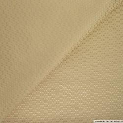 Jacquard polycoton fantaisie sable