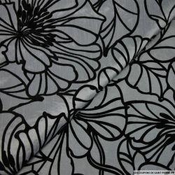Doupion floqué velours fleurs