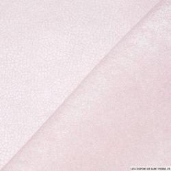 Suédine aspect cuir rose pale