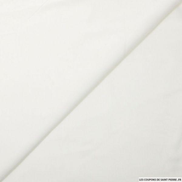 Voile de viscose blanc