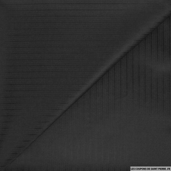 Tissu pour tailleur laine mélangée noir