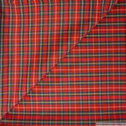 Taffetas écossais polyester rouge
