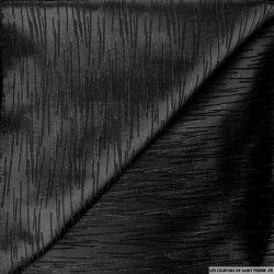Jacquard de laine satiné noir graphique