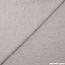 Voile polyester acétate strié gris perle
