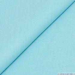 Lin mélangée uni bleu caraibe
