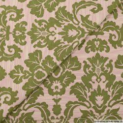 Jacquard de polycoton baroque vert