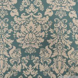 Jacquard polyester versailles fond vert