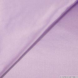 Satin polyester lilas