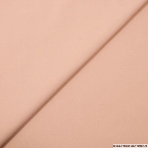 Satin de coton uni blush