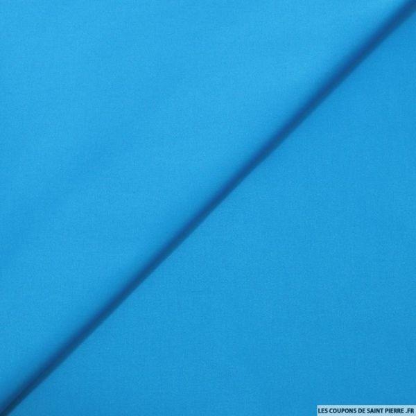 Satin de coton uni bleu azur