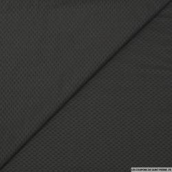 Voile jacquard polycoton ovales fond noir