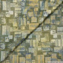 Jacquard polyester tableaux fantaisie vert