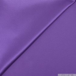 Jacquard polyester fantaisie violet