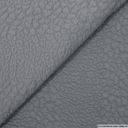 Jersey jacquard fantaisie gris