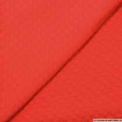 Jersey jacquard fantaisie rouge