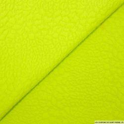 Jersey jacquard fantaisie vert anis