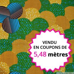 Wax africain forêt, vendu en coupon de 5,48 mètres