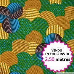 Wax africain forêt, vendu en coupon de 2,50 mètres