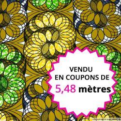 Wax africain ressort magique, vendu en coupon de 5,48 mètres