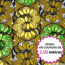 Wax africain ressort magique, vendu en coupon de 2,50 mètres