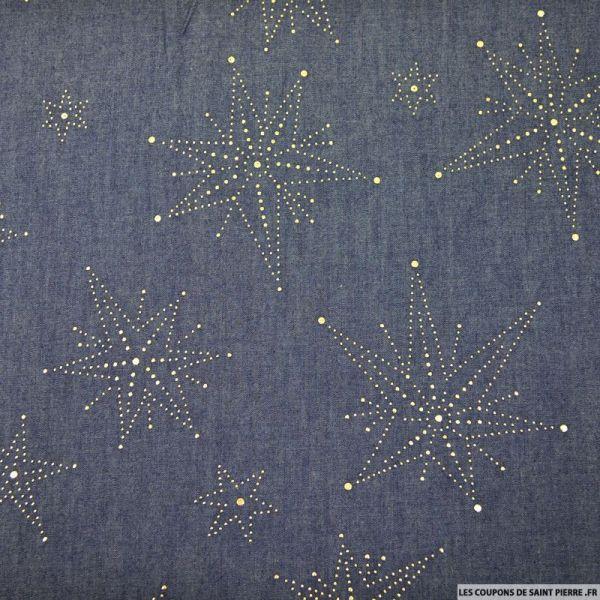 Jean's coton fin étoiles dorées