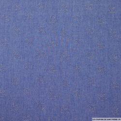Jean's coton fin moyen oiseaux argentés