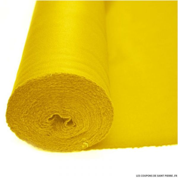 Tissu 100% cachemire double face jaune