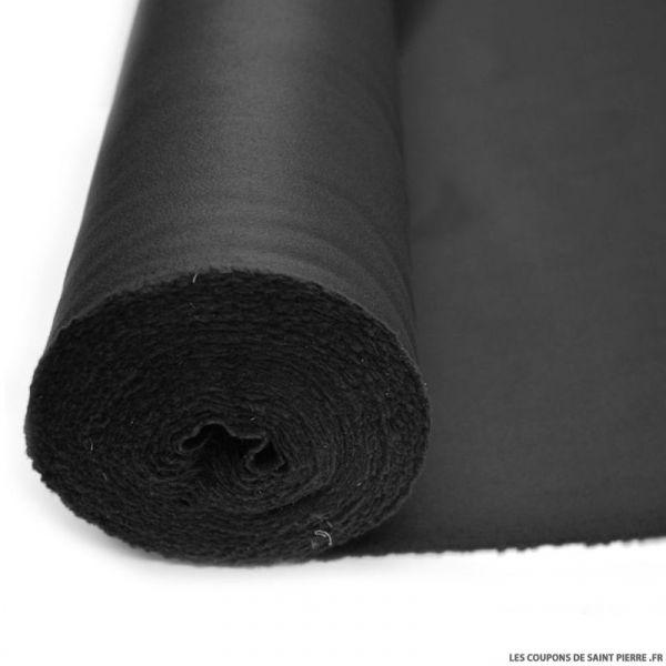 Tissu 100% cachemire double face noir