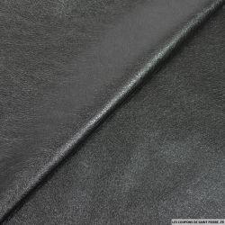 Simili cuir noir envers suédine