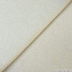 Lin coton milleraies beige clair