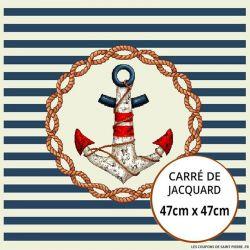 Jacquard ancre - 47cm x 47cm