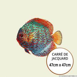 Jacquard poisson - 47cm x 47cm