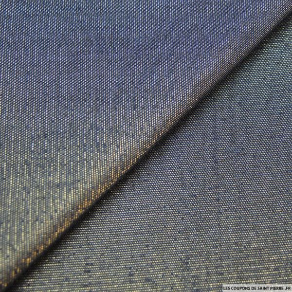 Jeans brut fil irisé or