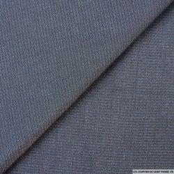 Jean bleu fil irisé argent
