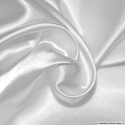 Tissu Satin Polyester uni Blanc