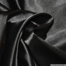 Satin Polyester uni Noir