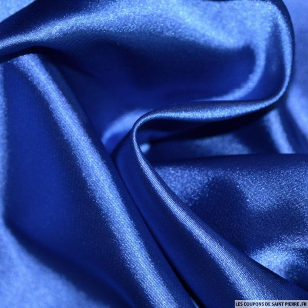 Satin Polyester uni Bleu électrique