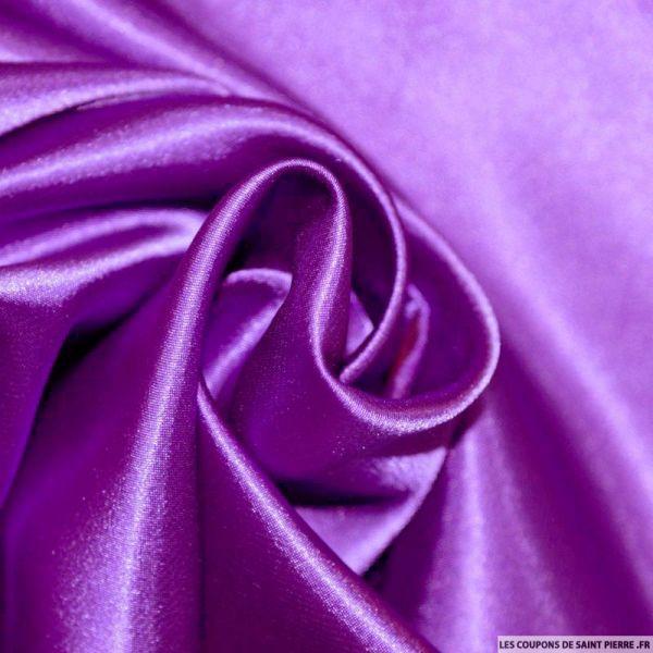 Satin Polyester uni Violet