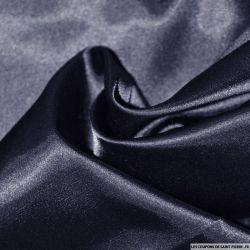 Satin Polyester uni marine