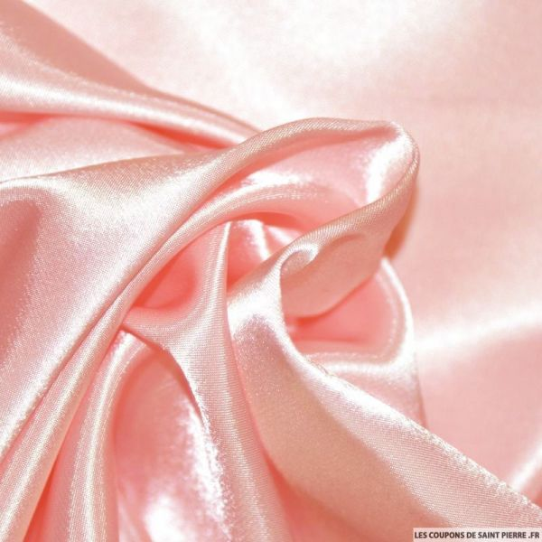 Satin Polyester uni rose