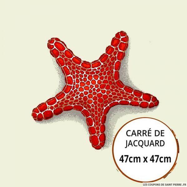 Jacquard étoile de mer  - 47cm x 47cm