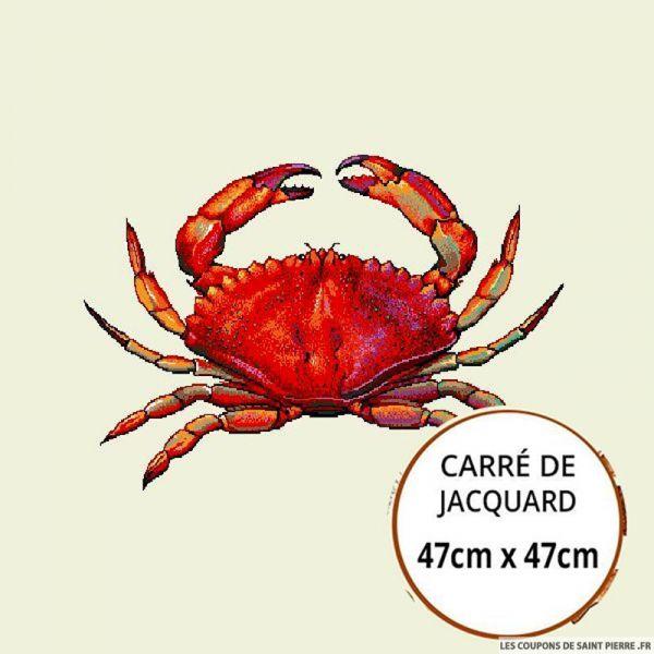 Jacquard crabe - 47cm x 47cm