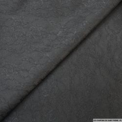 Jersey contrecollé dentelle noir